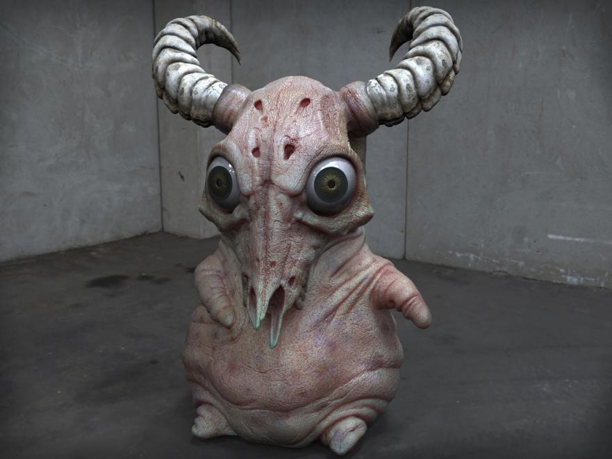 Naked goat blobby