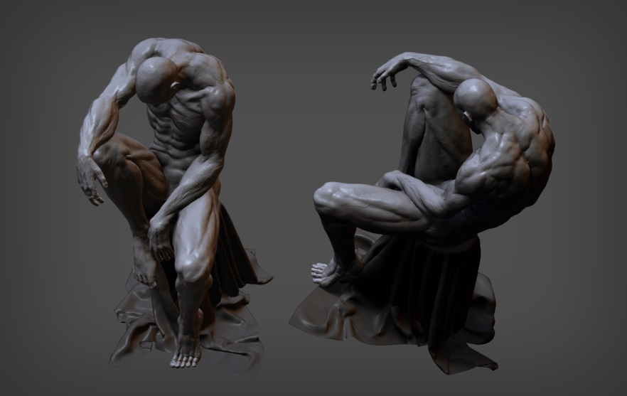 Anatomy study -  sitting male