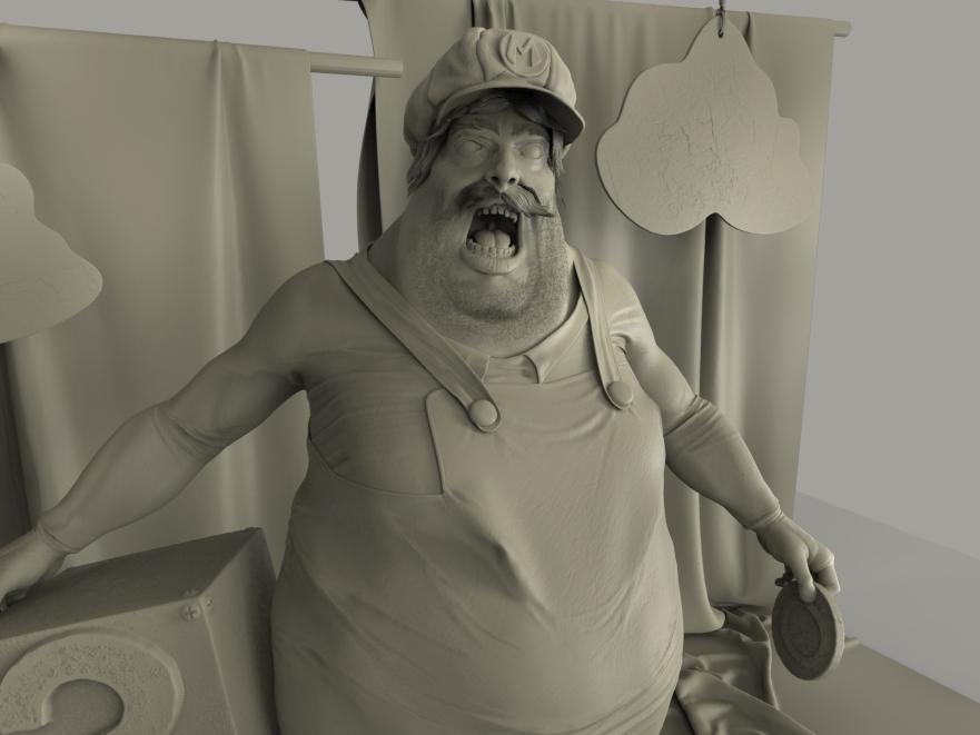 Mario on set